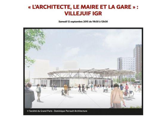 Table ronde sur la gare du Grand Paris Villejuif-IGR