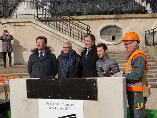 foundation stone of the new longchamp racecourse