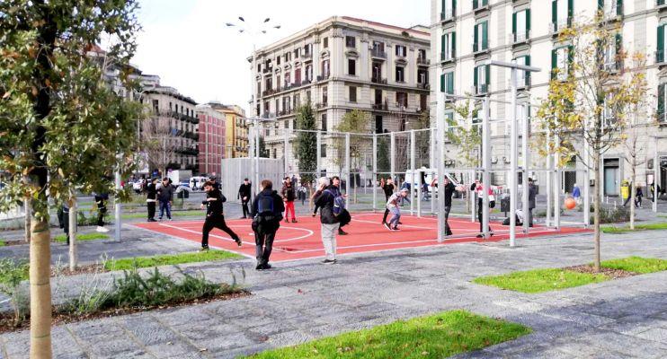 Inauguration of the Piazza Garibaldi