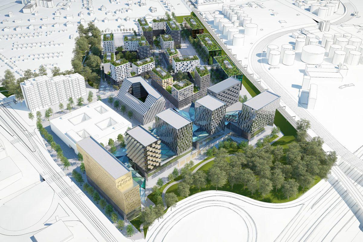 Dominique perrault architecture tude urbaine pour le for Projet de plan