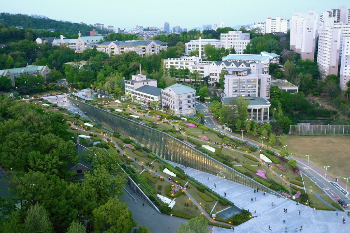 Dominique Perrault Architecture - Ewha womans university - urban design